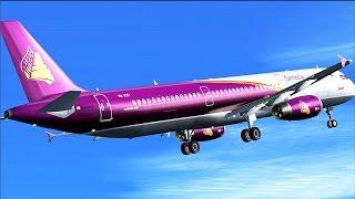 Cambodia Angkor Air A321 VN-A351.Phnom Penh-Hong Kong.VDPP-VHHH [FSX] .Nvidia ShadowPlay Recording.