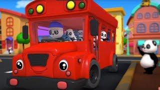 the wheels on the bus | 3d rhymes | nursery rhymes | childrens songs