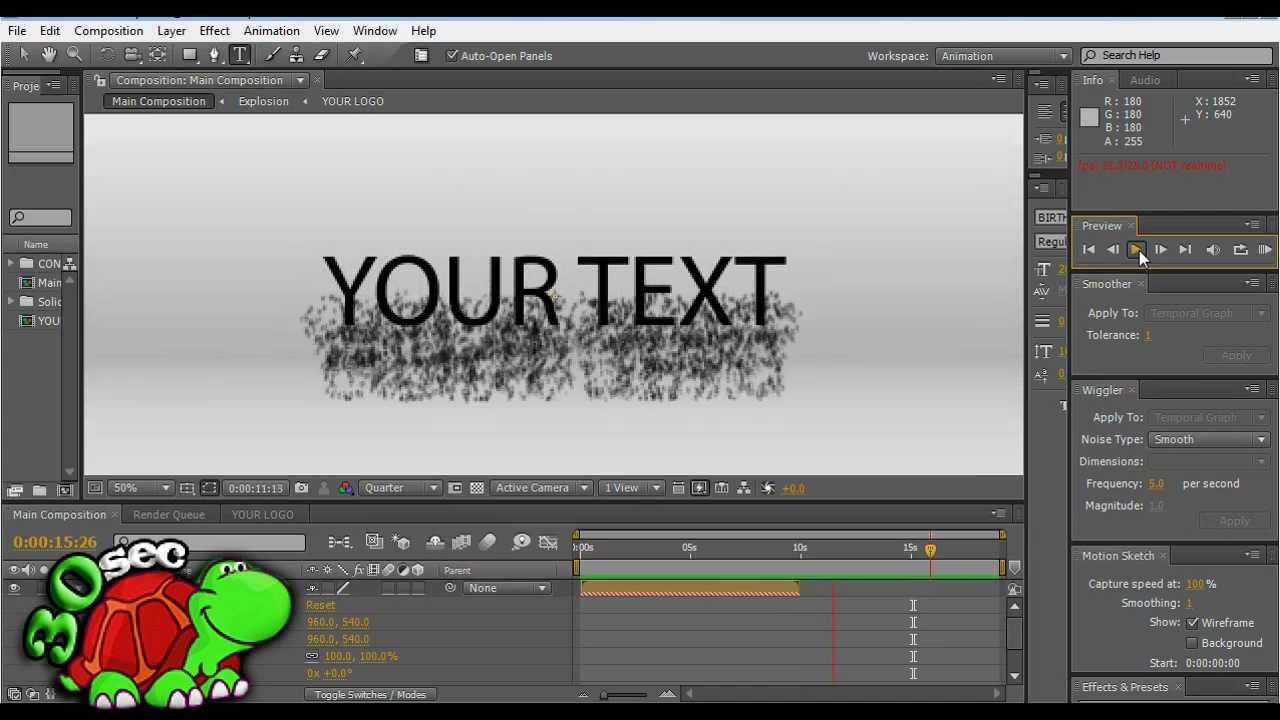 adobe after effect intro templates - adobe after effects particles form intro template youtube