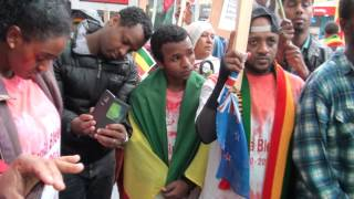 Ethiopians in New Zealand protested against the killing of protesters in Ethiopia