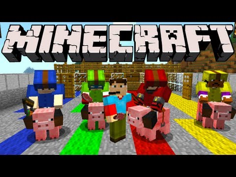 Minecraft - Pig Race Track!