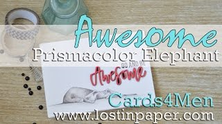 Cards4Men - An Awesome Katzelkraft Elephant!