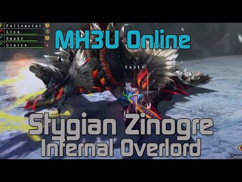 [MH3U] Monster Hunter 3 Ultimate Online - HR7 Infernal Overlord - Stygian Zinogre