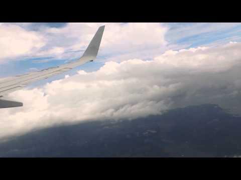Aterrizaje en el aeropuerto Juan Santamaría desde México D.F.