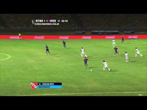 Gol de Ortíz. Independiente 1 - Alianza 1. 32 vos de Final. Copa Argentina 2015. FPT.