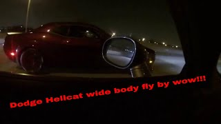 Dodge Hellcat wide body fly by