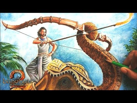 Bahubali 2 | Amazing Drawing - New Poster of Bahubali 2 Movie | Drawing Prabhas | 3D Art 4 You