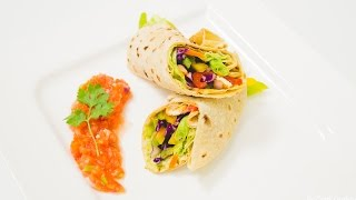 Vegetable Wrap Recipe - Using Leftover Rotis - Easy, Healthy Kids Lunch Box Recipes