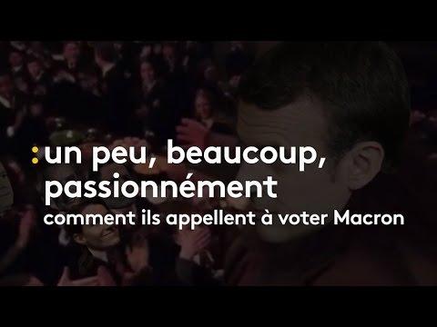 Comment ils appellent à voter Macron - franceinfo