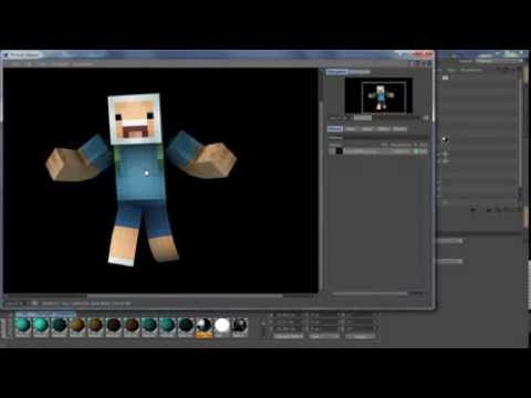 How To Make 3D Graphics In Cinema 4D (minecraft skin)