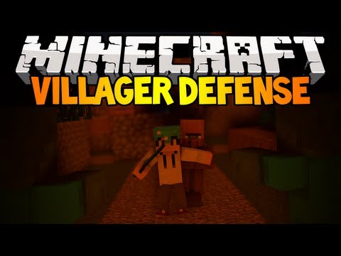 Minecraft Mini-Game: Villager Defense w/Kricken & Poke!