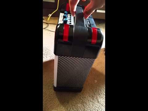 Caixa de som portatil amplificada