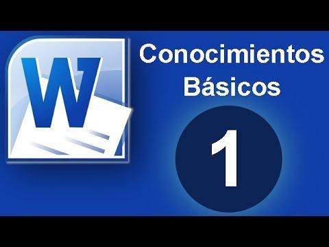 Tutorial Word (Cap. 1) Conocimientos Básicos