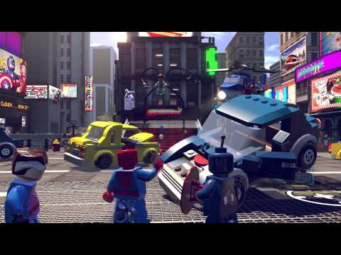 PS4 - Lego: Marvel Super Heroes Gameplay Part 3 Times Square Off (2/2)