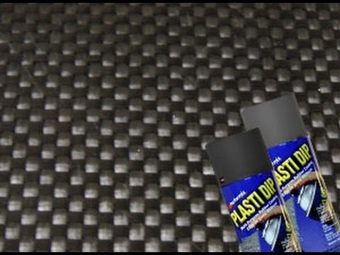 Create Carbon Fiber Look with Plasti Dip