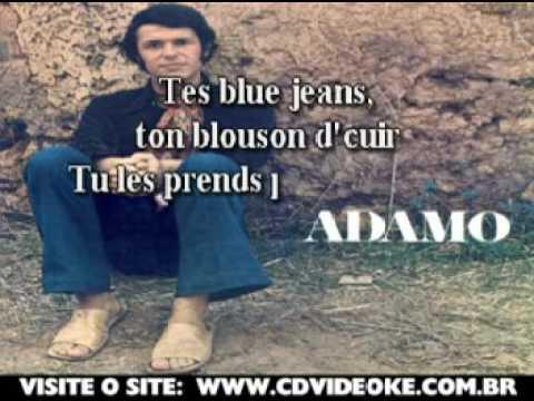 Adamo   En Blue Jeans Et Blouzon D'cuir