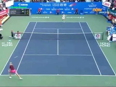 Maria Sharapova vs Caroline Wozniacki 2010 HK Highlights