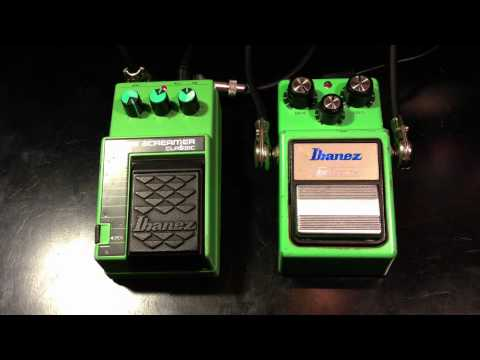 Vintage Ibanez Tube Screamer TS9 vs TS10