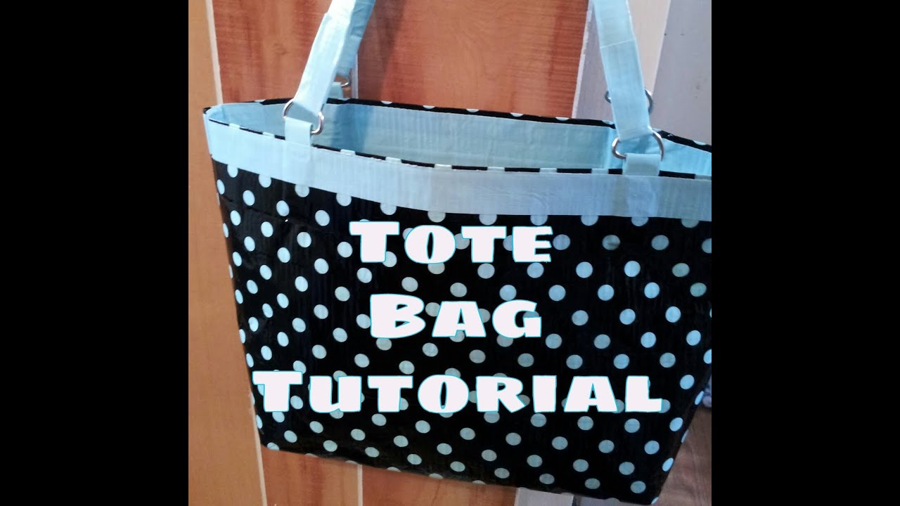 Diy Duct Tape Tote Bag Purse Tutorial No Sew Youtube