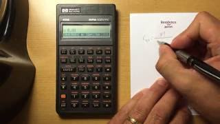 HP 42s Probability Functions