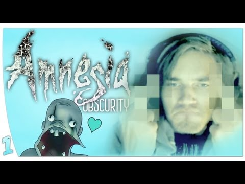 F&%CK JUMPSCARES! - Amnesia: Obscurity (1) w/ Heartbeat Monitor