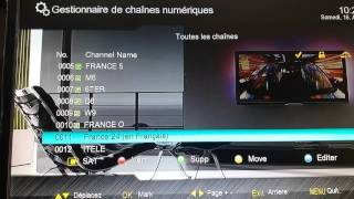 Deplacement de chaines clever3ترتيب قنواة
