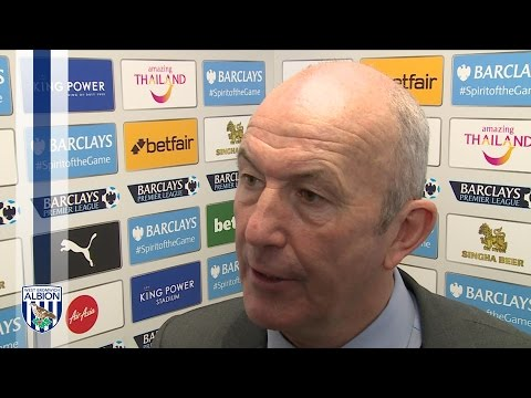 Tony Pulis is interviewed after Albion's 2-2 draw at Premier League leaders Leicester City