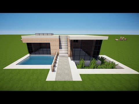 Wie Baut Man Ein Modernes Haus In Minecraft Minecraft Modernes - Minecraft haus bauen deutsch