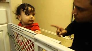 1.5 year old Baby Arguing with dad
