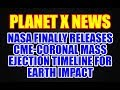 NASA FINALLY RELEASES CME CORONAL MASS EJECTION TIMELINE FOR EARTH IMPACT