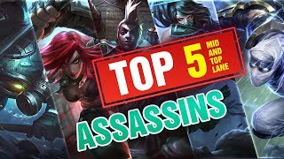 5 Best Assassins for Mid and Top Lane in League of Legends