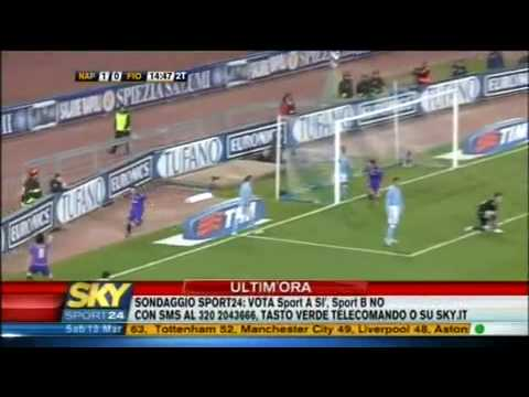 Napoli - Fiorentina 1 - 3 (28^ giornata serie A 2009/10) Sky highlights HQ