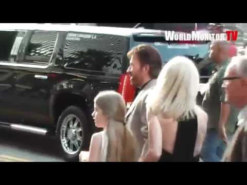 PART 1--Chuck Norris and wife Gena arrive at Expendables 2 premier in Hollywood