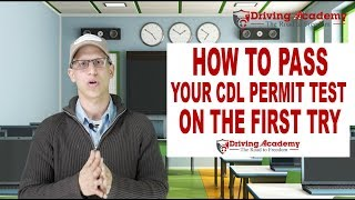 How to Get your CDL Permit - Pass the first time - Driving Academy