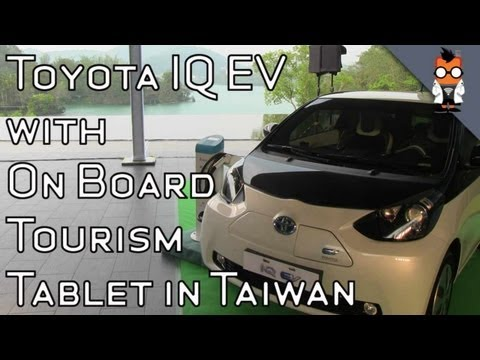 Toyota IQ EV Rentals with Tourism Tablet Launch in Taiwan