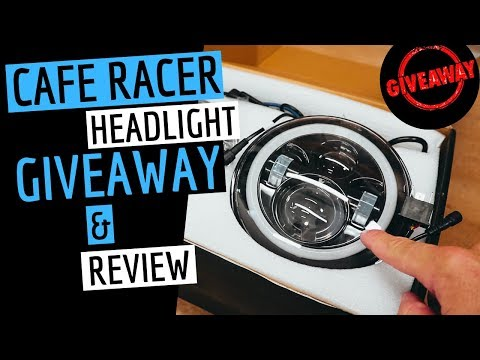 Motorcycle Headlight Review & GIVEAWAY - Cafe Racer Build