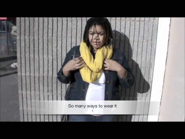 DYI...Home made circle scarf (plus size fashion from Montreal)