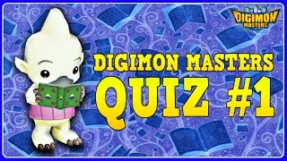 DIGIMON MASTERS QUIZ #1  - Test Your Knowledge about DMO!