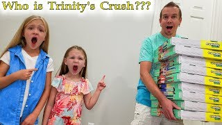 Trinity's Crush Reveal! Dad Hides Creatable World Toy Scavenger Hunt In Our House!