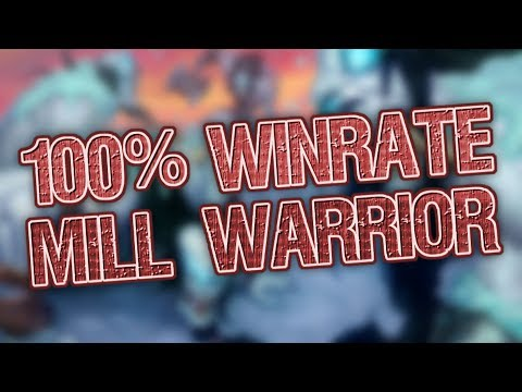 Trump Mastered Mill Warrior! from a 40% to a 100% Win Rate!
