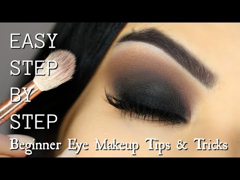 Beginner Eye Makeup Tips & Tricks   STEP BY STEP SMOKEY EYE MAKEUP