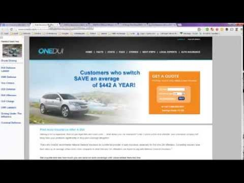 Auto Insurance after DUI -- Providers for Offenders