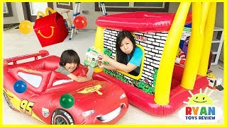 Mcdonald 39 S Drive Thru Mommy On Disney Cars Lightning Mcqueen Power Wheel Ride On Car