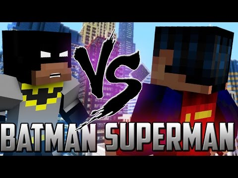 Minecraft: Batman vs Superman Robin!