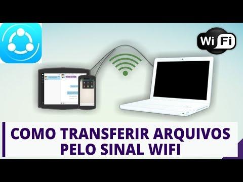 Como transferir arquivos do celular para o computador pelo WIFI sem cabo  - SHAREit Tutorial