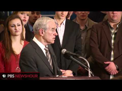 Watch Ron Paul's Speech Night of Mich., Ariz. Primaries in Virginia: 'War Drums Are Beating'