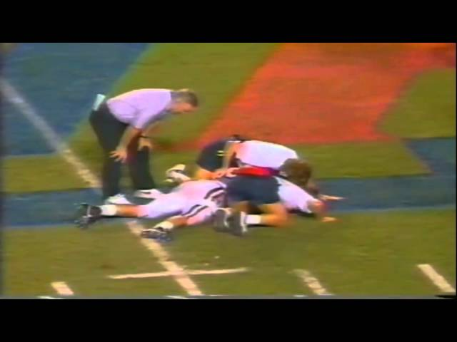 Oregon RB Sean Burwell 12 yard run vs. Arizona 9-22-1990