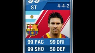 FIFA 12 BLUE MESSI 99 Player Review & In Game Stats Ultimate Team