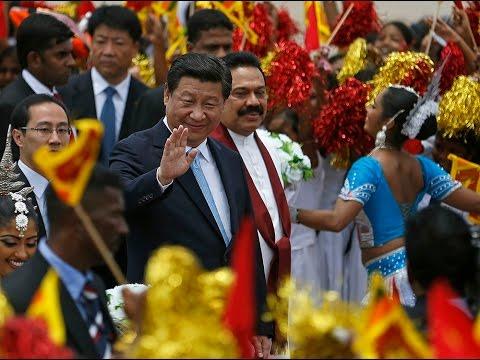 Chinese President Xi Jinping arrives in Sri Lanka
