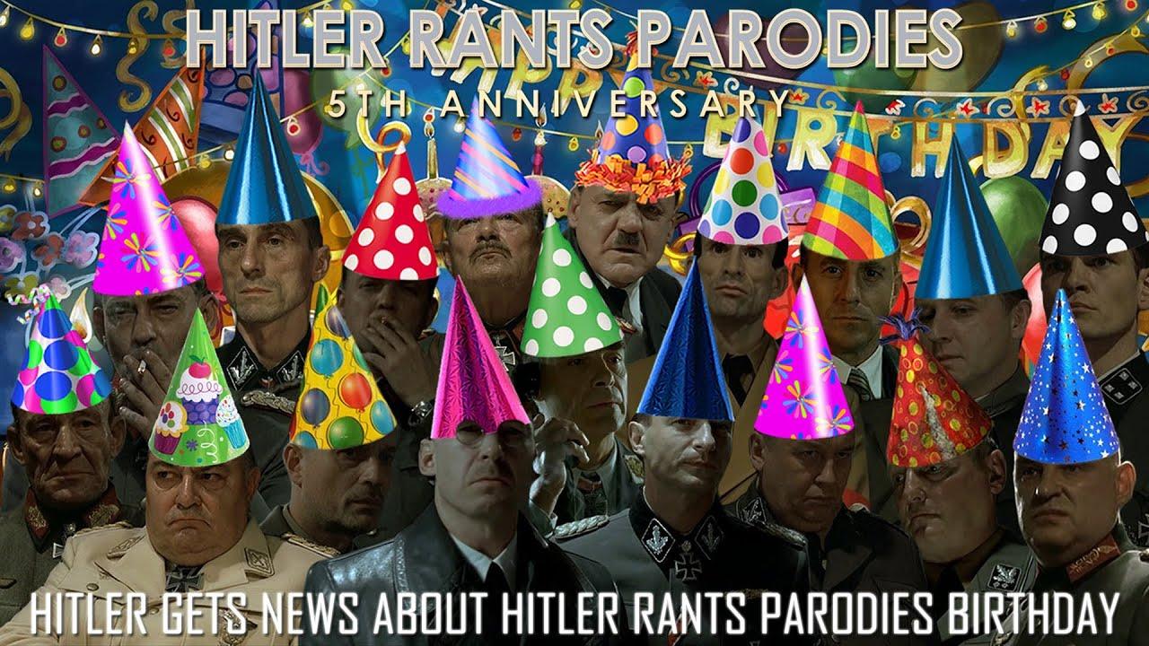 Hitler gets news about Hitler Rants Parodies birthday